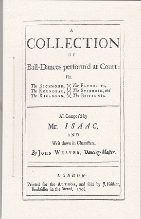 A Collection of Ball-Dances performe'd at Court.