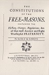 The Constitutions of the Free-Masons, 1734