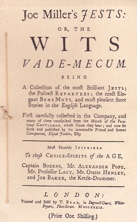 Joe Miller's Jest: or the Wits Vade-Mecum