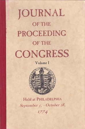 Journal of the Proceedings of the Congress 1774, Vol. 1