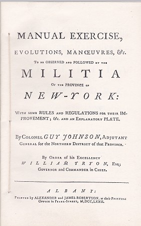 Manual of Exercise for the Militia of New York.