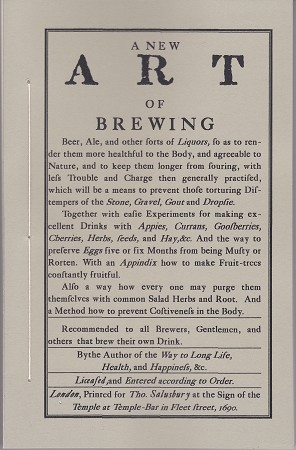 A New Art Of Brewing.