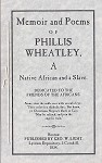 Memoir and Poem of Phillis Weatley