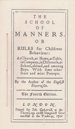 The School of Manners.